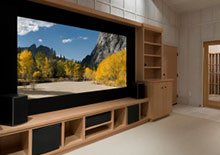 home entertainment media console and wall unit